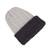 Reversible 100% alpaca hat, 'Warm and Contented' - 100% Alpaca White and Grey Reversible Knit Hat from Peru (image 2e) thumbail