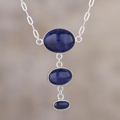 Sodalite pendant,natural sodalite,Sodalite silver pendant,925 sterling silver jewelry,gemstone pendant,gift for her,handmade