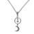Sterling silver pendant necklace, 'Celestial Cascade' - Sterling Silver Crescent Moon and Star Pendant Necklace (image 2d) thumbail