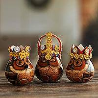 Gourd figurines, 'Three Kings'