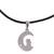 Silver pendant necklace, 'Nocturnal Date' - Silver Cat and Crescent Moon Pendant Necklace from Peru (image 2a) thumbail
