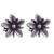 Sterling silver stud earrings, 'Gleaming Daisies' - Floral Sterling Silver Stud Earrings from Peru (image 2a) thumbail