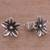 Sterling silver stud earrings, 'Gleaming Daisies' - Floral Sterling Silver Stud Earrings from Peru (image 2b) thumbail