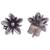 Sterling silver stud earrings, 'Gleaming Daisies' - Floral Sterling Silver Stud Earrings from Peru (image 2c) thumbail