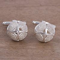 Sterling silver filigree cufflinks,