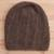 100% alpaca hat, 'Chestnut Elegance' - Hand-Crocheted 100% Alpaca Hat in Chestnut from Peru thumbail