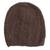 100% alpaca hat, 'Chestnut Elegance' - Hand-Crocheted 100% Alpaca Hat in Chestnut from Peru (image 2a) thumbail