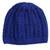 Cotton hat, 'Royal Pattern' - Hand-Crocheted Cotton Hat in Royal Blue from Peru (image 2a) thumbail