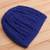 Cotton hat, 'Royal Pattern' - Hand-Crocheted Cotton Hat in Royal Blue from Peru (image 2b) thumbail