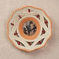 Featured review for Chambira tree fiber and gourd shell decorative basket, Majestic Parrot