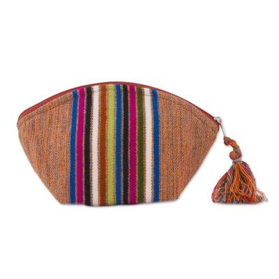 Novica Cotton cosmetics bag, The Dunes of Ica
