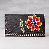 Featured review for Leather wallet, Flower of the Earth