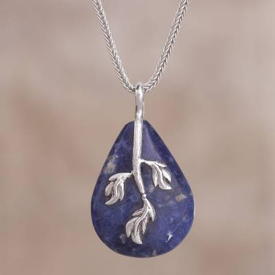 necklace gemstone sodalite listing crystal blue il au pendant point