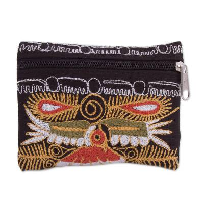 Handcrafted Embroidered Coin Purse from Peru