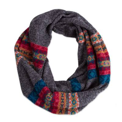 100% alpaca neck warmer, 'Multicolored Inca' - Multicolored 100% Alpaca Neck Warmer from Peru