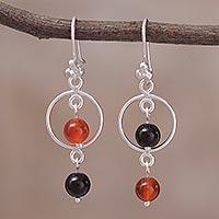 Novica Rhodolite dangle earrings, Cultural Secret