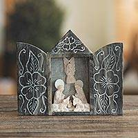 Featured review for Huamanga stone nativity scene, Floral Family
