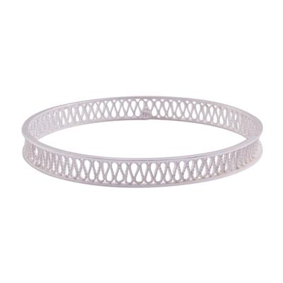 Handcrafted Sterling Silver Filigree Bangle Bracelet