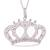 Sterling silver filigree pendant necklace, 'Princess Tiara' - Handcrafted Sterling Silver Filigree Crown Pendant Necklace (image 2a) thumbail