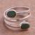 Chrysocolla wrap ring, 'Double Embrace' - Handcrafted Green-Blue Chrysocolla Wrap Ring (image 2) thumbail
