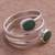 Chrysocolla wrap ring, 'Double Embrace' - Handcrafted Green-Blue Chrysocolla Wrap Ring (image 2b) thumbail