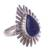 Sodalite cocktail ring, 'Drop of Grandeur' - Sterling Silver and Blue Sodalite Cocktail Ring from Peru (image 2c) thumbail