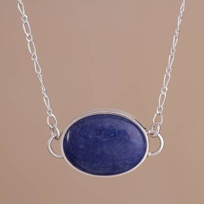 pendant sodalite peru p silver and evocative necklace handcrafted in color