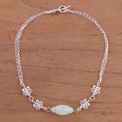 c1f07907e556e Opal and Sterling Silver Butterflies Pendant Necklace, 'Enchanted  Butterflies'