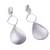 Silver plated dangle earrings, 'Silver Desire' - Silver Plated Dangle Earrings with Textured Matte Finish (image 2d) thumbail
