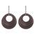 Bronze plated dangle earrings, 'Rings of Bronze' - Bronze Plated Double Ring Dangle Earrings from Peru (image 2a) thumbail