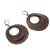 Bronze plated dangle earrings, 'Rings of Bronze' - Bronze Plated Double Ring Dangle Earrings from Peru (image 2d) thumbail