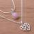 Opal pendant necklace, 'Doubly Cherished' - Rose Opal and Sterling Silver Heart Pendant Necklace Duo (image 2b) thumbail
