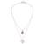 Opal pendant necklace, 'Doubly Cherished' - Rose Opal and Sterling Silver Heart Pendant Necklace Duo (image 2c) thumbail