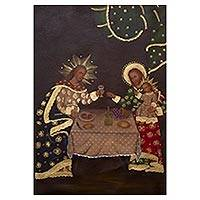 'The Holy Family at Dinner' - Colonial Replica of The Holy Family at Dinner from Peru