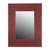 Leather wall mirror, 'Colonial Memories' - Handcrafted Leather Wall Mirror from Peru (image 2a) thumbail