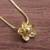 Gold plated sterling silver pendant necklace, 'Glistening Petals' - Gold Plated Sterling Silver Flower Necklace from Peru (image 2) thumbail