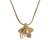 Gold plated sterling silver pendant necklace, 'Glistening Petals' - Gold Plated Sterling Silver Flower Necklace from Peru (image 2a) thumbail