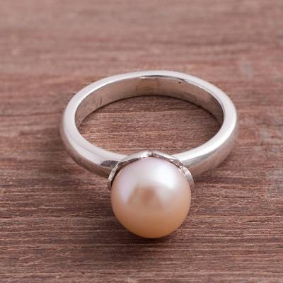 eb92c9efafe9 UNICEF Market | Cultured Pearl Cocktail Ring in Pink from Peru ...