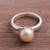 Cultured pearl cocktail ring, 'Pink Nascent Flower' - Cultured Pearl Cocktail Ring in Pink from Peru (image 2) thumbail