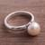 Cultured pearl cocktail ring, 'Pink Nascent Flower' - Cultured Pearl Cocktail Ring in Pink from Peru (image 2b) thumbail