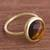 Gold plated tiger's eye single stone ring, 'Magic Pulse' - Gold-Plated Tiger's Eye Single Stone Ring from Peru (image 2b) thumbail