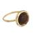 Gold plated tiger's eye single stone ring, 'Magic Pulse' - Gold-Plated Tiger's Eye Single Stone Ring from Peru (image 2c) thumbail