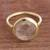 Gold plated quartz single stone ring, 'Magic Pulse' - Gold Plated Quartz Single Stone Ring from Peru (image 2) thumbail