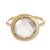 Gold plated quartz single stone ring, 'Magic Pulse' - Gold Plated Quartz Single Stone Ring from Peru thumbail