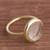 Gold plated quartz single stone ring, 'Magic Pulse' - Gold Plated Quartz Single Stone Ring from Peru (image 2b) thumbail