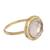Gold plated quartz single stone ring, 'Magic Pulse' - Gold Plated Quartz Single Stone Ring from Peru (image 2c) thumbail