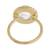 Gold plated quartz single stone ring, 'Magic Pulse' - Gold Plated Quartz Single Stone Ring from Peru (image 2d) thumbail