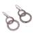 Sterling silver filigree dangle earrings, 'Looped in Antique' - Oxidized Sterling Silver Filigree Circles Dangle Earrings (image 2c) thumbail