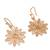 Gold plated sterling silver filigree dangle earrings, 'Starburst Flower in Gold' - Gold Plated Sterling Silver Filigree Flower Dangle Earrings (image 2d) thumbail