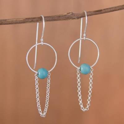 Novica Hematite drop earrings, Pathway to My Heart